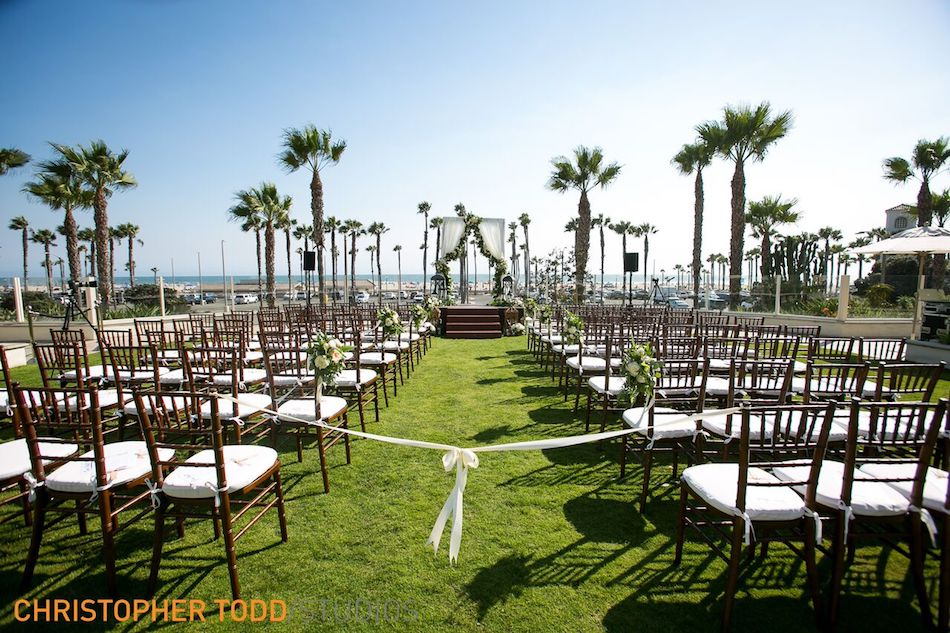 Tropical Hyatt Regency Huntington Beach Wedding