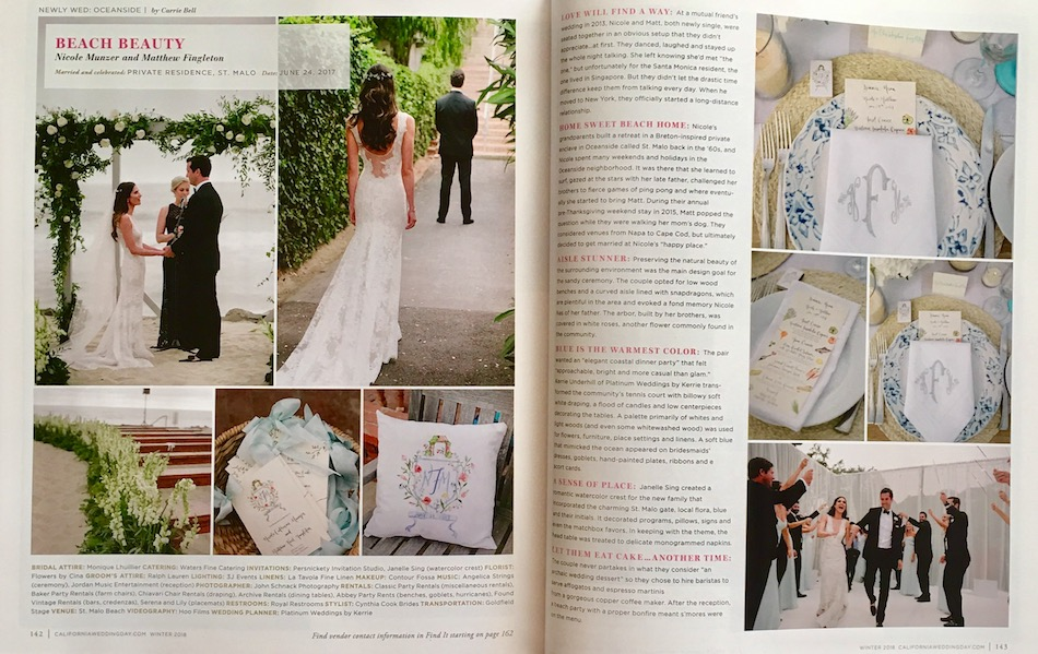 Featured In California Wedding Day Magazine