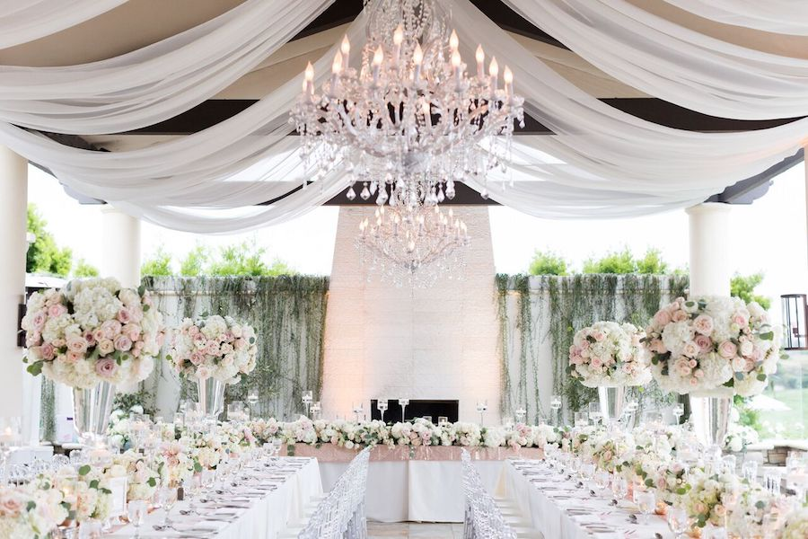 White And Blush Wedding Bliss At Monarch Beach Resort Flowers By Cina