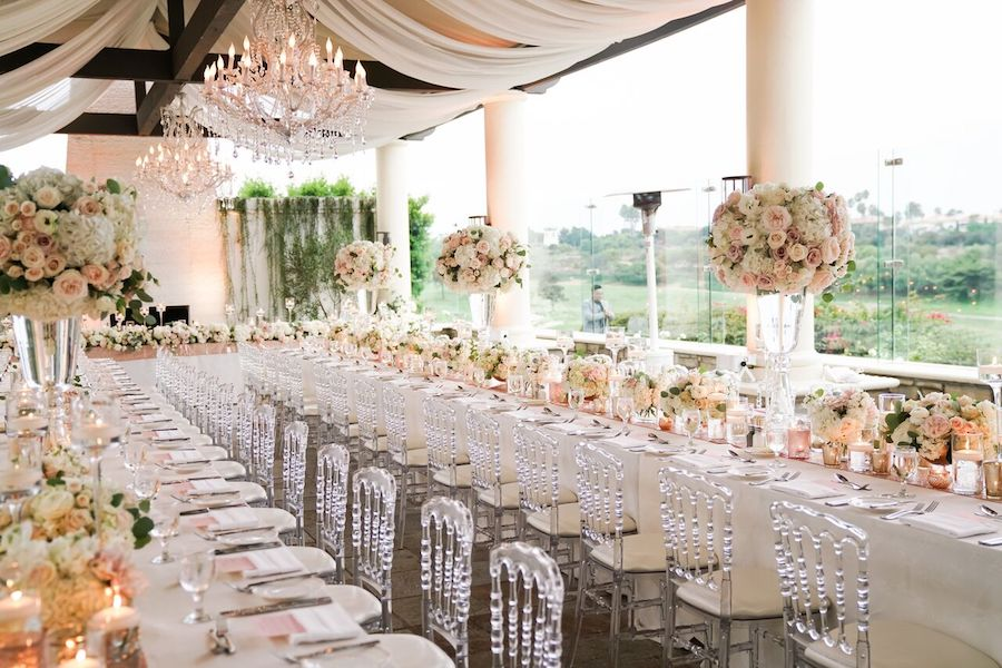 White and Blush Wedding Bliss at Monarch Beach Resort