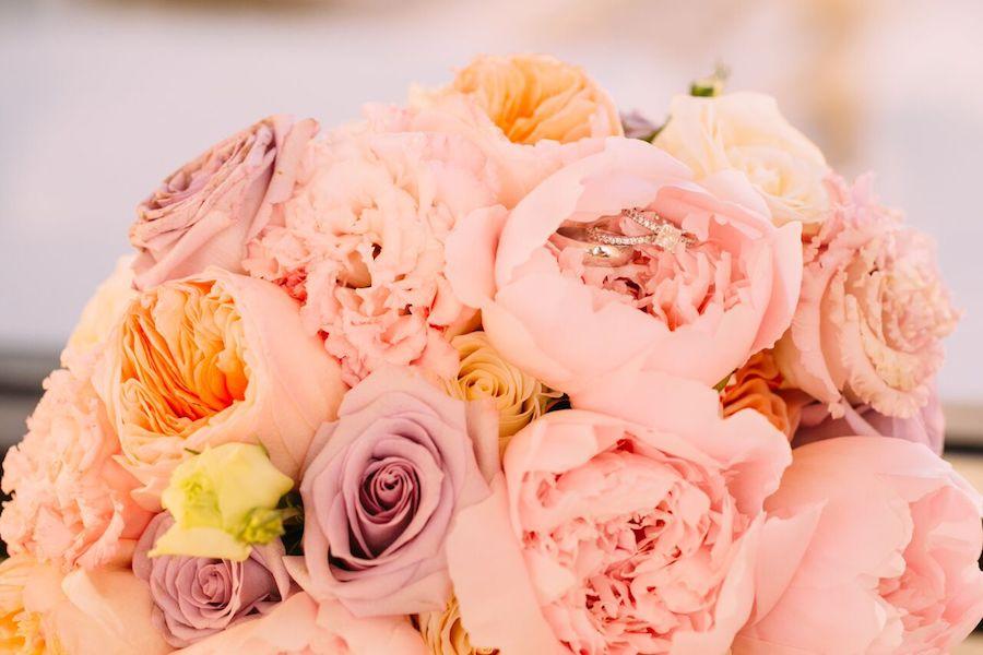 Hilton Waterfront Beach Resor, wedding, wedding flowers, blush, lavender, flowers by cina, floral design, orange county florist, orange county wedding florist, orange county weddings, floral design, wedding flowers