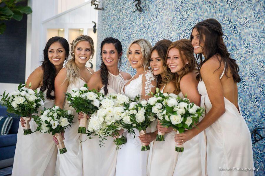 Waterfront Beach Resort, Wedding, flowers by cina, white wedding, orange county wedding, orange county florist, orange county floral design, orange county florist, florist, floral design, barnet photography