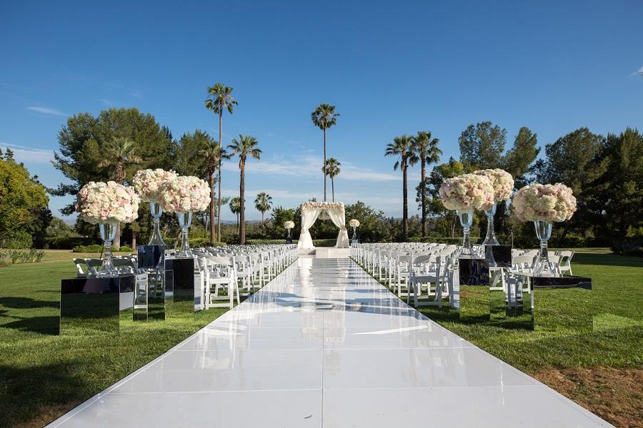 Flowers by Cina, Langham Pasadena wedding, Kelsey Events, Frank Salas, blush wedding, ivory wedding