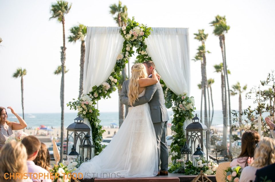 Gina and Matt's Coastal Chic Wedding Featured in Spring/Summer 2018 Ceremony Magazine Issue