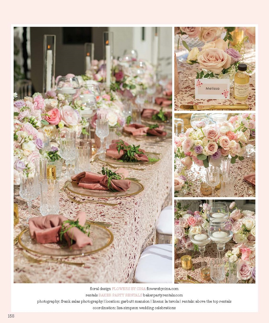 Trish Peng, Flowers by Cina, Lisa Simpson Weddings, Sarkis Studios, Garden Party