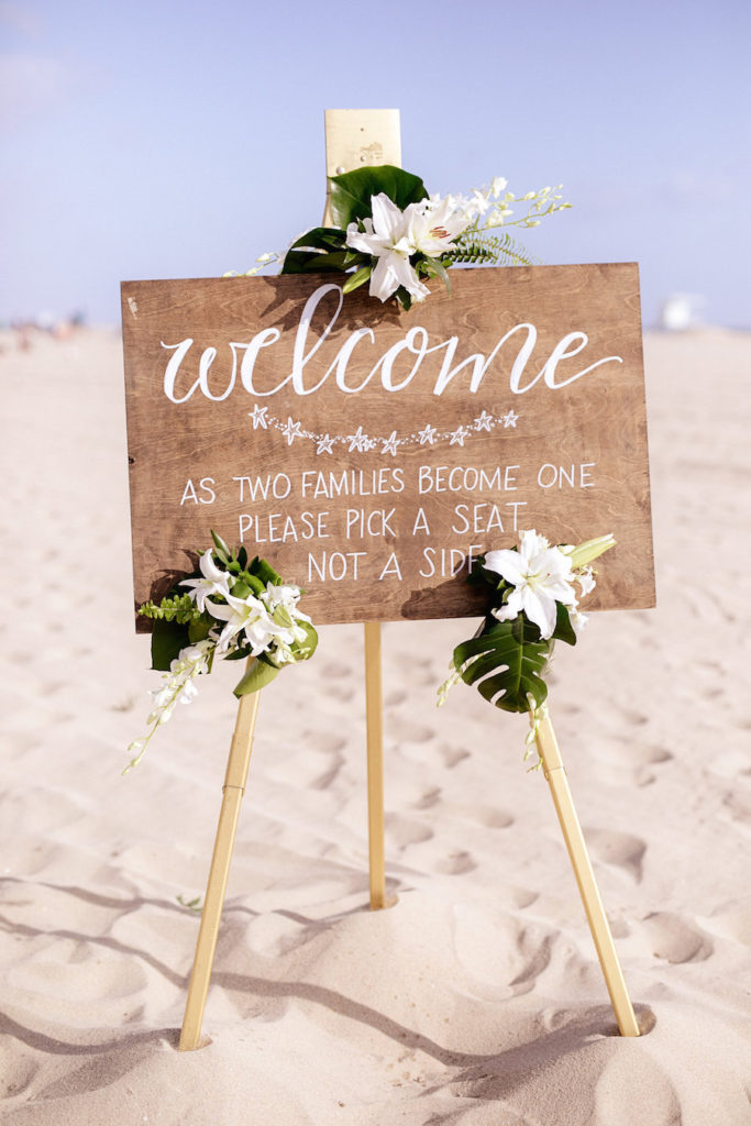 flowers by cina, beach wedding, navy blue wedding