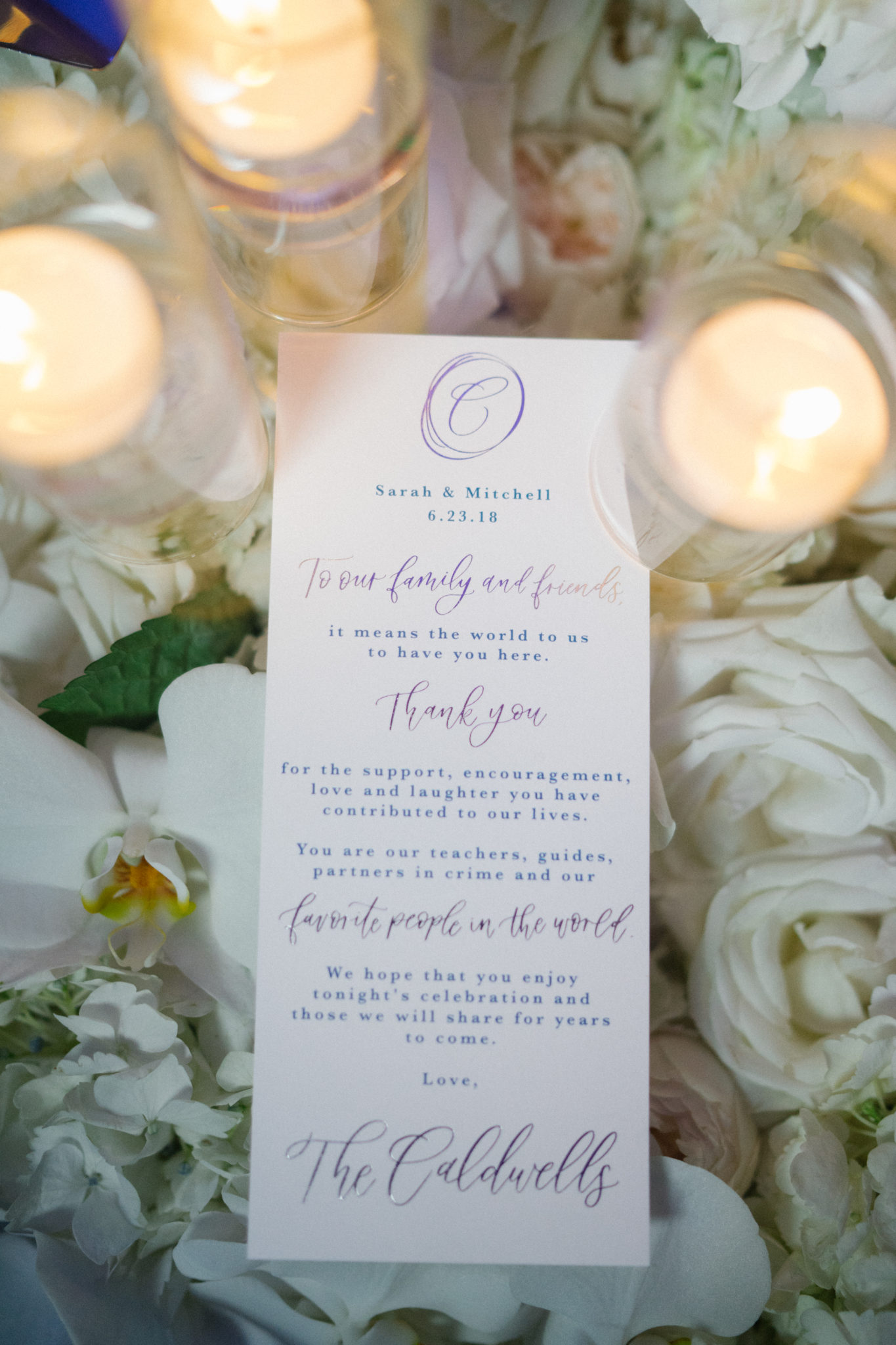 Hilton Waterfront - Sarah & Mitchell - Flowers by Cina