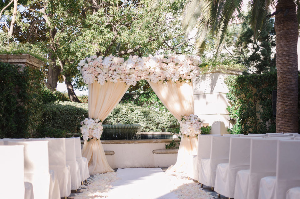 Romantic Blush Wedding at The Peninsula Beverly Hills