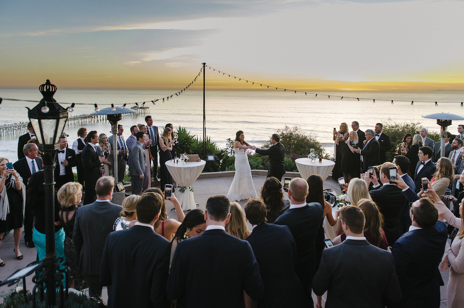 first dance, outdoor wedding reception, bride and groom, traditional pastel wedding, Flowers by Cina, orange county wedding florist, orange county weddings, floral design, orange county floral designer, floral designer
