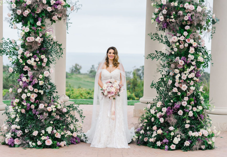 floral design, florist, wedding florist, wedding flowers, orange county weddings, orange county wedding florist, orange county florist, orange county floral design, flowers by cina, purple floral decor, bride, lilac florals