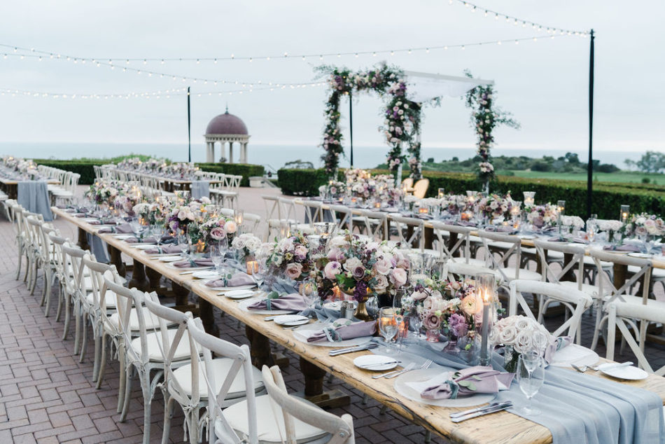 floral design, florist, wedding florist, wedding flowers, orange county weddings, orange county wedding florist, orange county florist, orange county floral design, flowers by cina, purple outdoor wedding, outdoor wedding reception, purple tabletop details