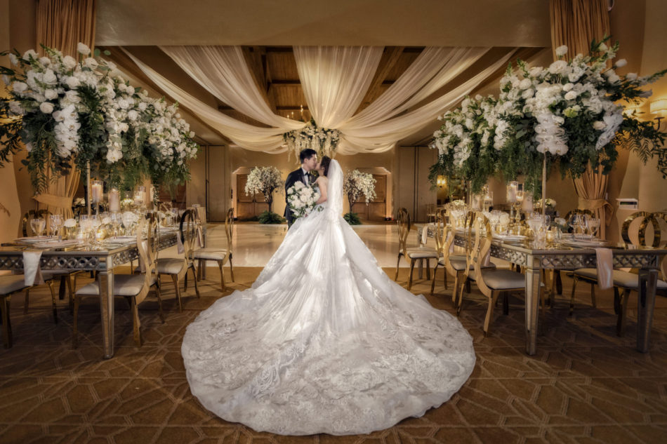 bridal gown, fairytale wedding, bride and groom, floral design, florist, wedding florist, wedding flowers, orange county weddings, orange county wedding florist, orange county florist, orange county floral design, flowers by cina