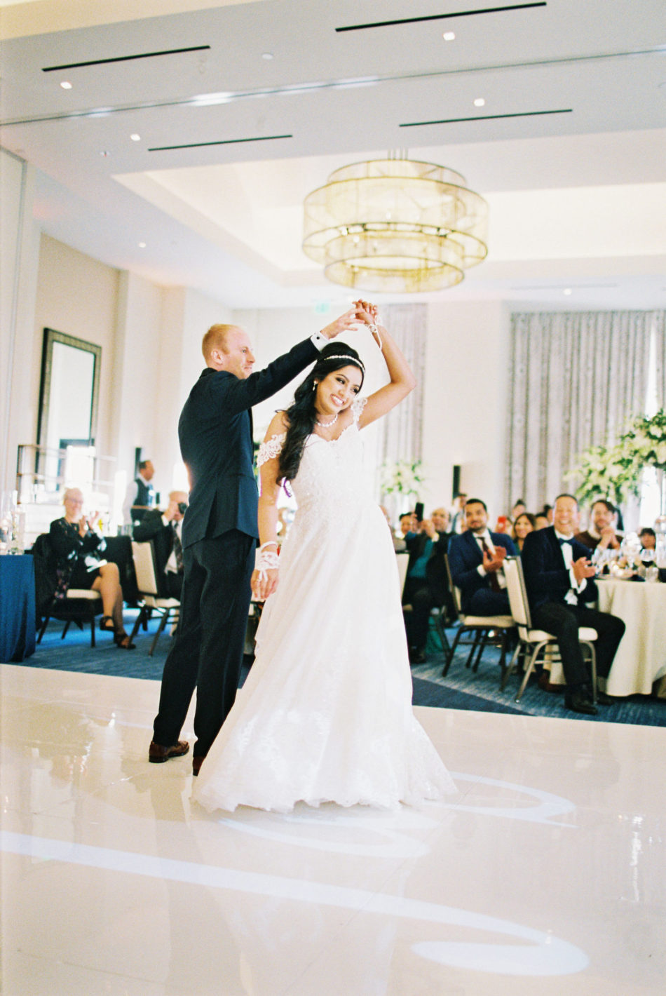 first dance, bride and groom, wedding dance, floral design, florist, wedding florist, wedding flowers, orange county weddings, orange county wedding florist, orange county florist, orange county floral design, flowers by cina