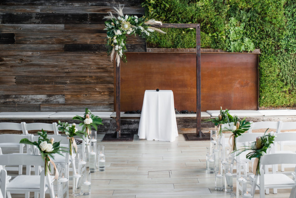 modern ceremony design, modern ceremony arch, modern ceremony setup, floral design, florist, wedding florist, wedding flowers, orange county weddings, orange county wedding florist, orange county florist, orange county floral design, flowers by cina
