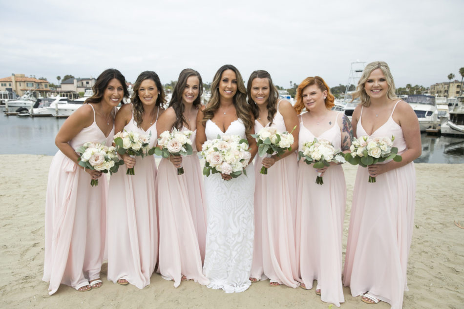 pink bridesmaid dress, blush bridesmaid dress, romantic bridesmaid dress, floral design, florist, wedding florist, wedding flowers, orange county weddings, orange county wedding florist, orange county florist, orange county floral design, flowers by cina