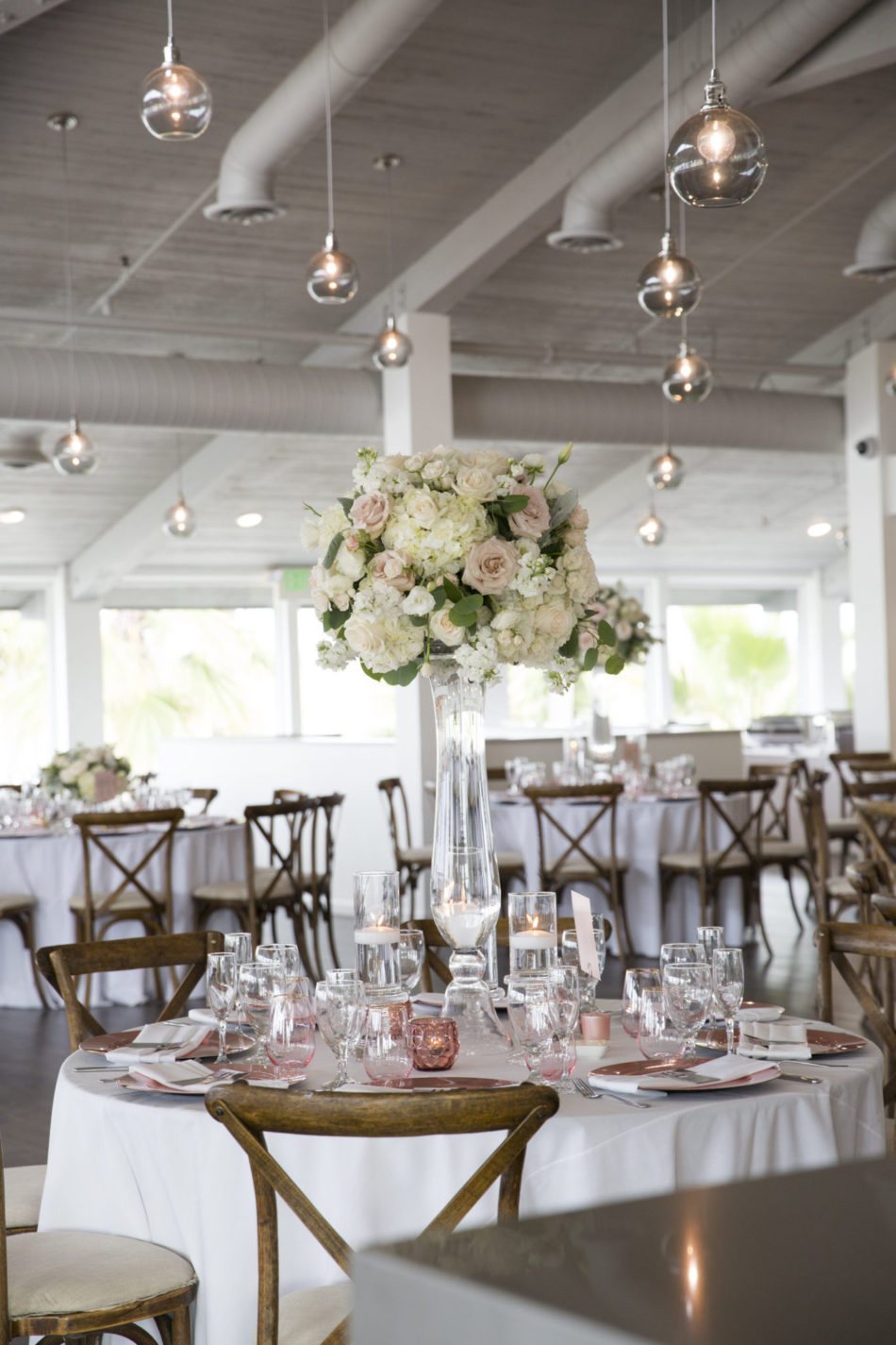reception design, blush reception design, coastal reception design, floral design, florist, wedding florist, wedding flowers, orange county weddings, orange county wedding florist, orange county florist, orange county floral design, flowers by cina