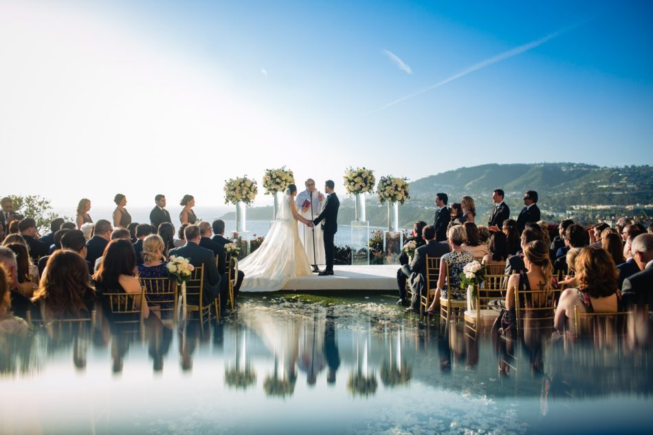 enchanted oceanfront wedding, mirrored ceremony floor, oceanfront ceremony, mirrored ceremony design, floral design, florist, wedding florist, wedding flowers, orange county weddings, orange county wedding florist, orange county florist, orange county floral design, flowers by cina