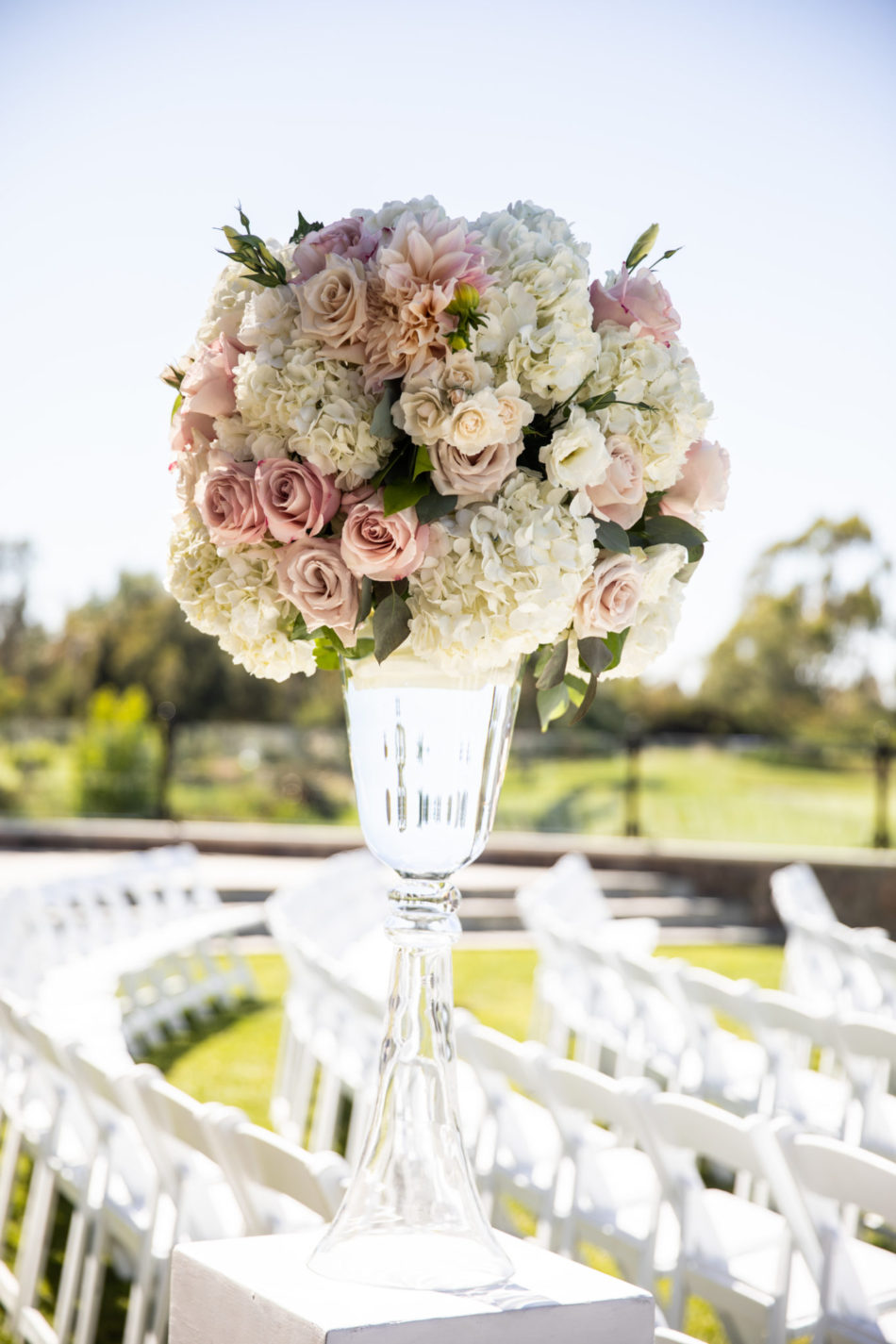 elevated floral arrangement, ceremony floral arrangement, blush floral design, florist, wedding florist, wedding flowers, orange county weddings, orange county wedding florist, orange county florist, orange county floral design, flowers by cina