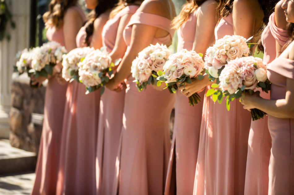 blush bridesmaid dresses, pink bridesmaid dresses, bridesmaid bouquets, floral design, florist, wedding florist, wedding flowers, orange county weddings, orange county wedding florist, orange county florist, orange county floral design, flowers by cina
