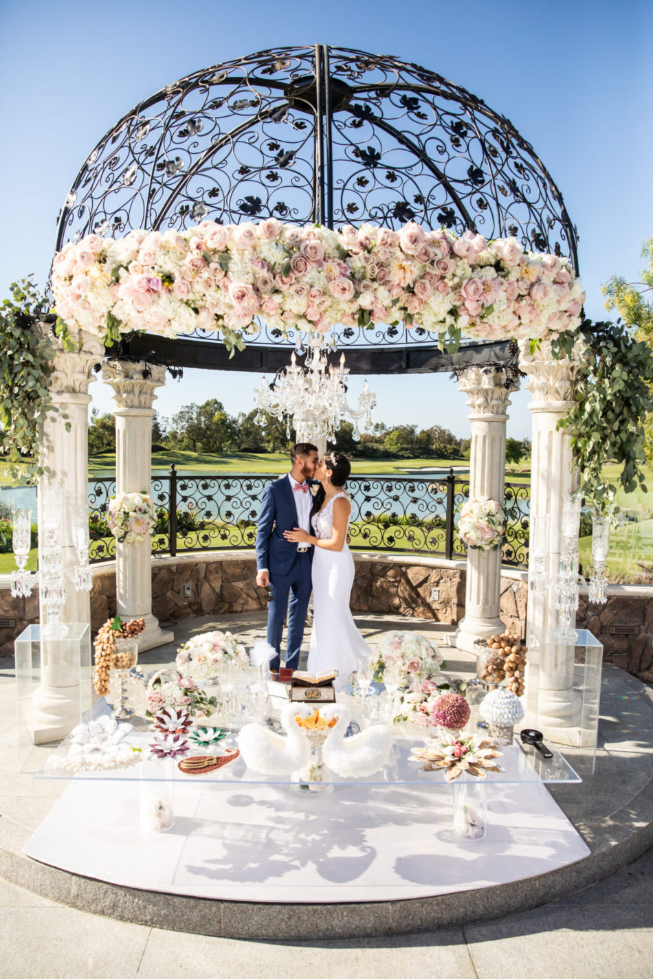 floral arch, pink floral arch, blush floral arch, floral design, florist, wedding florist, wedding flowers, orange county weddings, orange county wedding florist, orange county florist, orange county floral design, flowers by cina