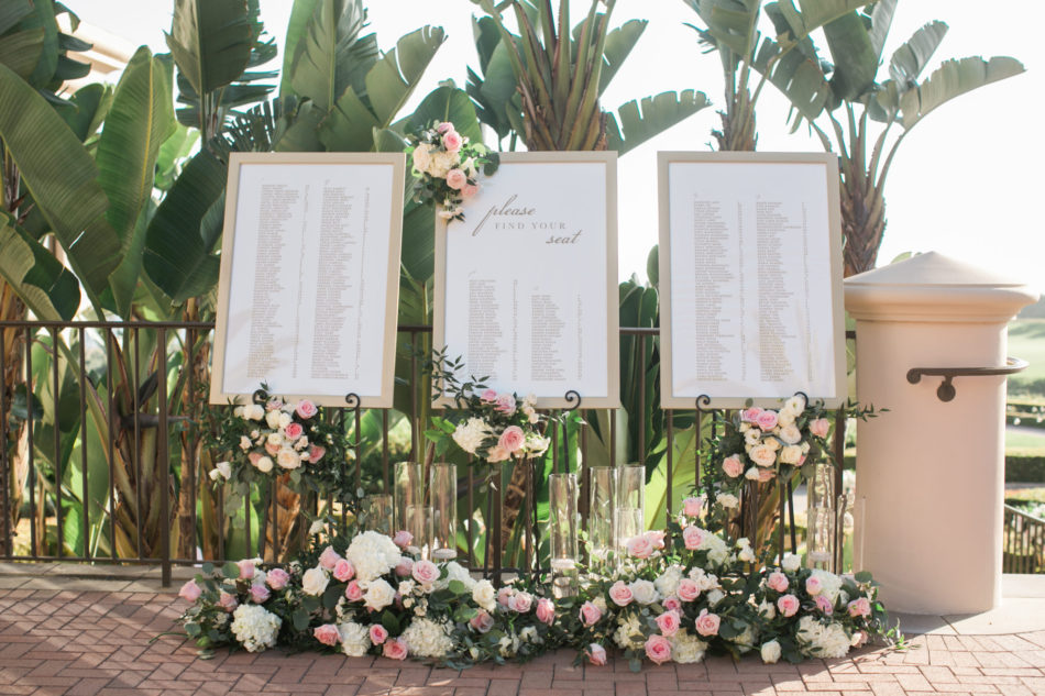 indian fusion wedding, seating chart, floral decor, blush floral chart, floral design, florist, wedding florist, wedding flowers, orange county weddings, orange county wedding florist, orange county florist, orange county floral design, flowers by cina