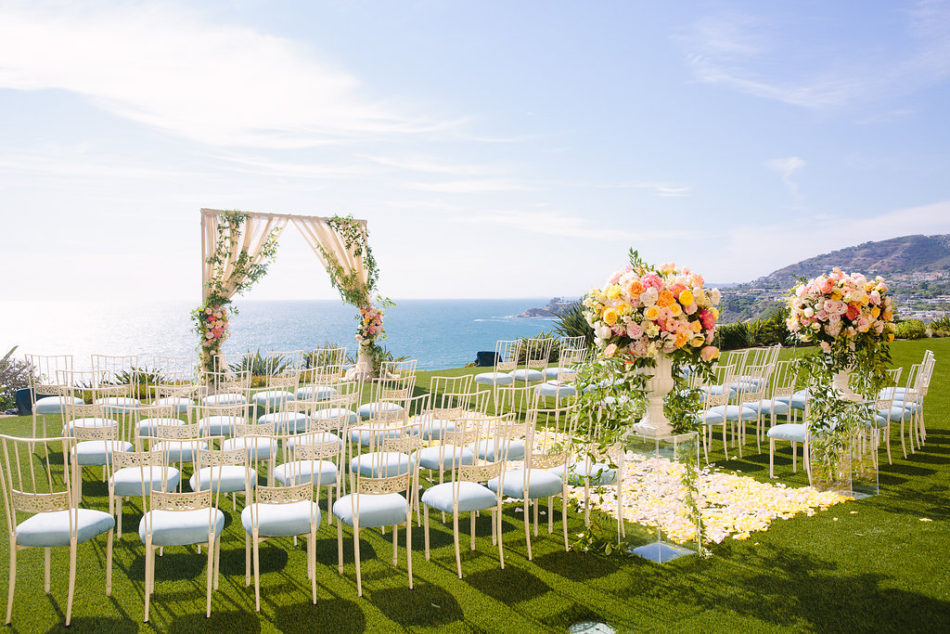 inside weddings feature, ceremony setup, floral-filled ceremony, floral design, florist, wedding florist, wedding flowers, orange county weddings, orange county wedding florist, orange county florist, orange county floral design, flowers by cina