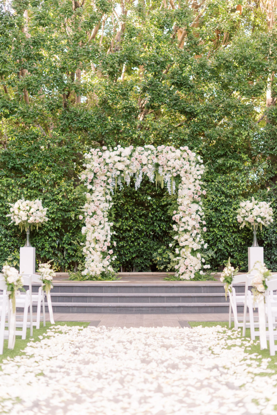 beverly hills wedding, blush floral arch, four seasons wedding, floral design, florist, wedding florist, wedding flowers, orange county weddings, orange county wedding florist, orange county florist, orange county floral design, flowers by cina