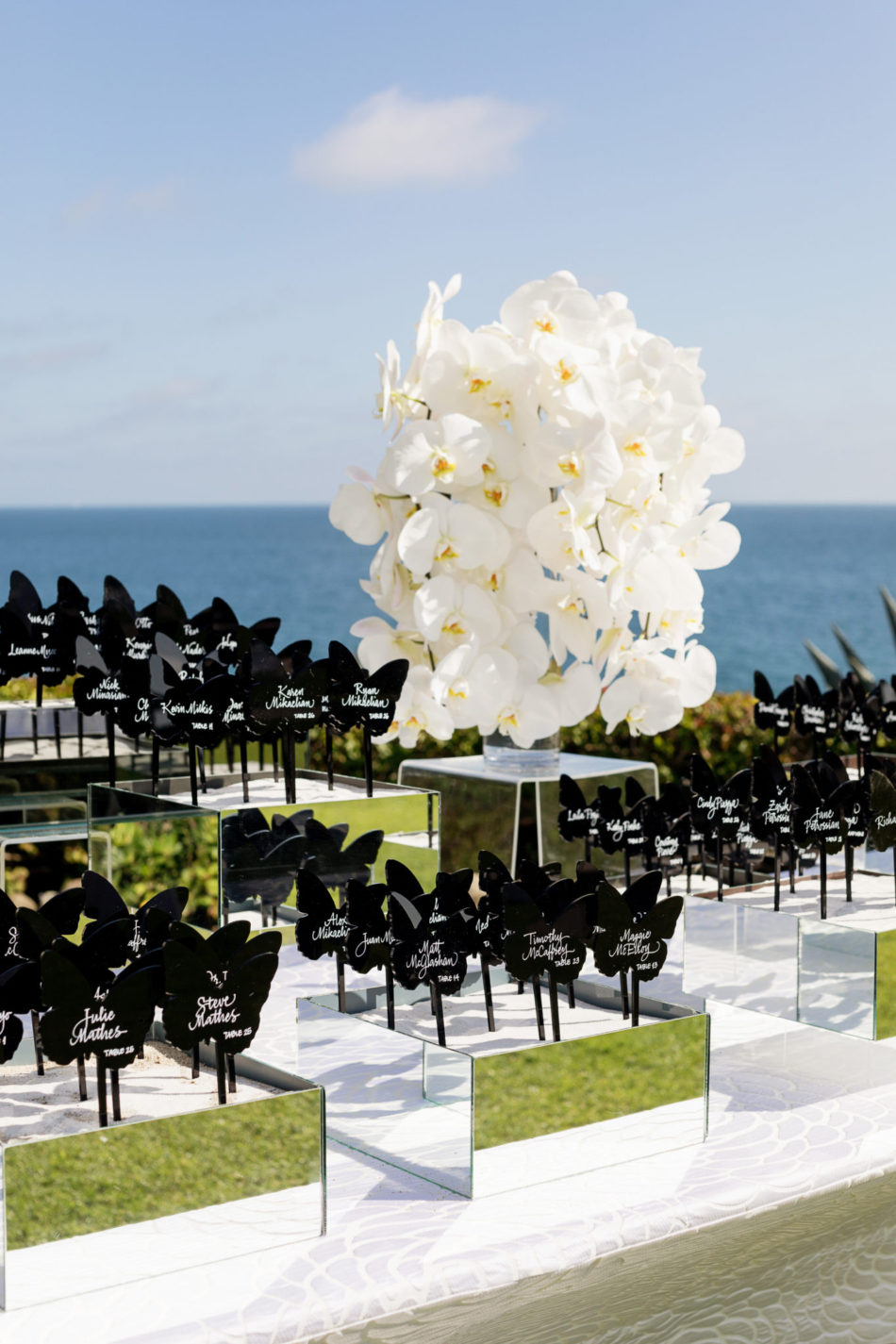 escort cards, wedding escort cards, lavish oceanfront wedding, floral design, florist, wedding florist, event florist, wedding flowers, event flowers, cabo san lucas weddings, cabo san lucas wedding florist, cabo san lucas florist, cabo san lucas floral design, cabo rentals, flowers and events