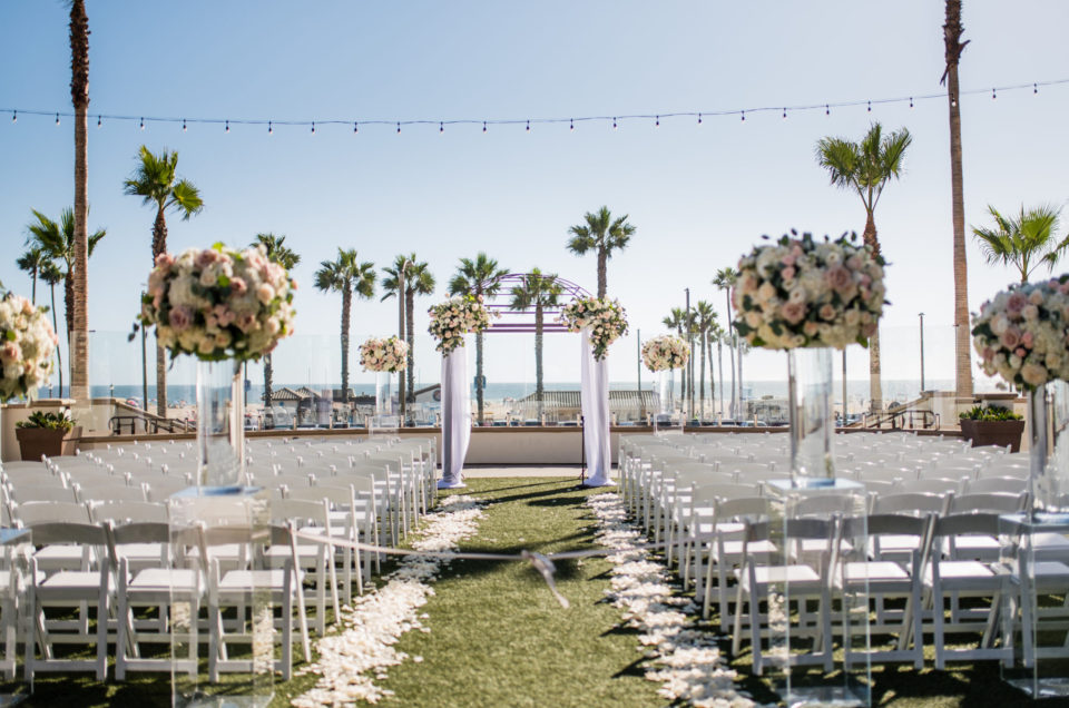 Blush Beachfront Wedding in Huntington Beach