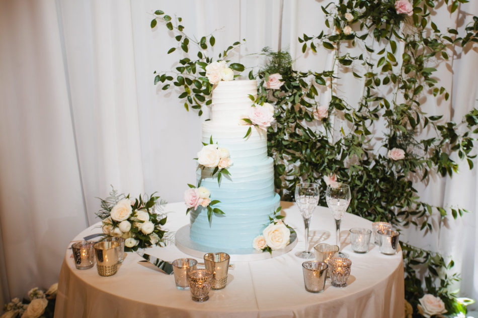 classic blue hued wedding, wedding cake, blue wedding cake, beautiful coastal wedding, floral design, florist, wedding florist, wedding flowers, orange county weddings, orange county wedding florist, orange county florist, orange county floral design, flowers by cina