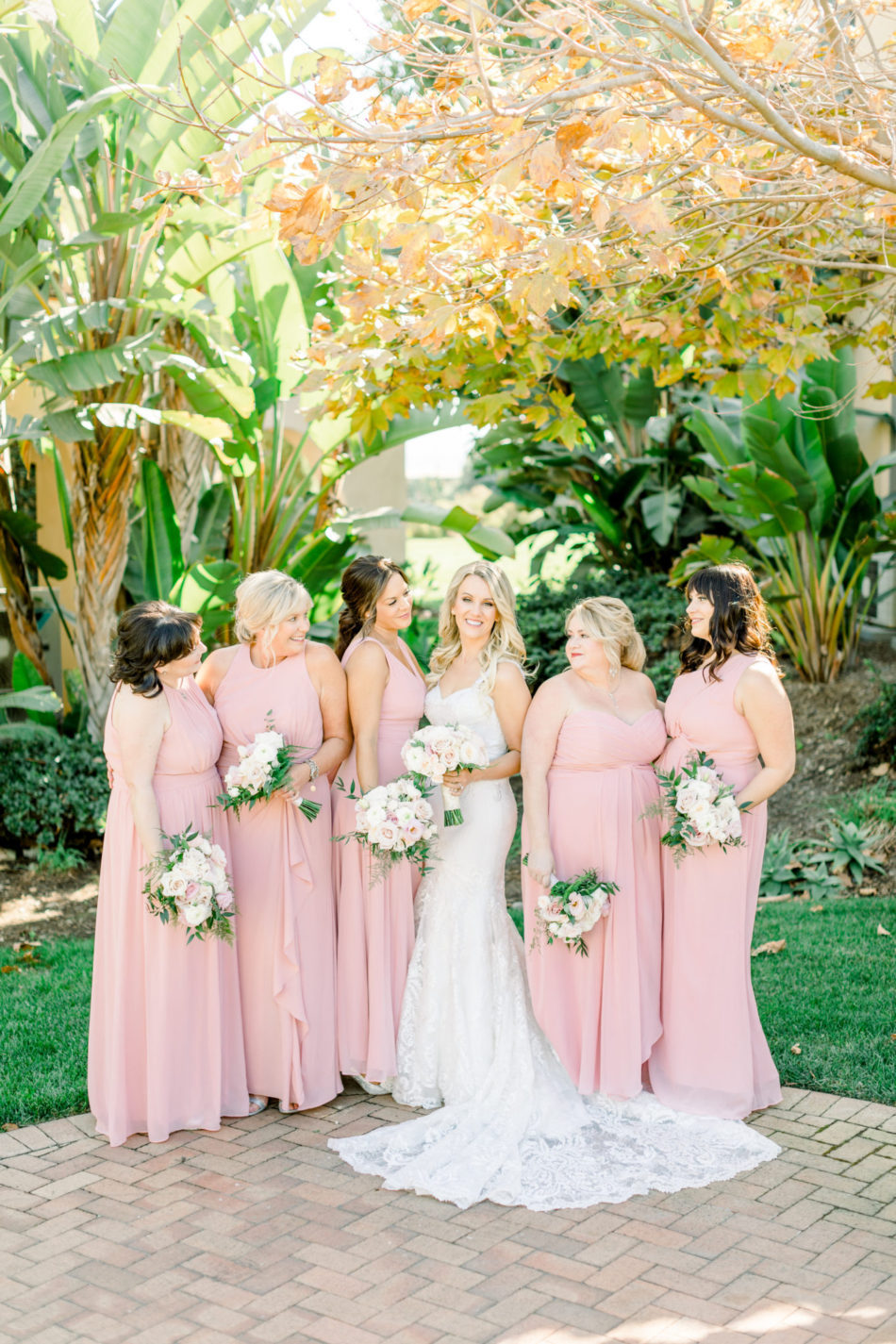 pink bridesmaids dress, bridesmaids, gorgeous floral-filled wedding, floral design, florist, wedding florist, wedding flowers, orange county weddings, orange county wedding florist, orange county florist, orange county floral design, flowers by cina
