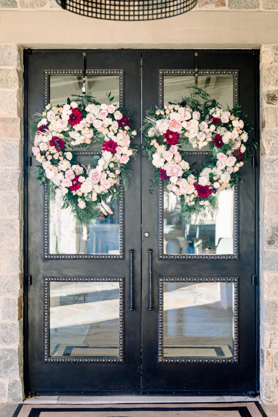 door wreaths, floral-filled wreath, gorgeous floral-filled wedding, floral design, florist, wedding florist, wedding flowers, orange county weddings, orange county wedding florist, orange county florist, orange county floral design, flowers by cina