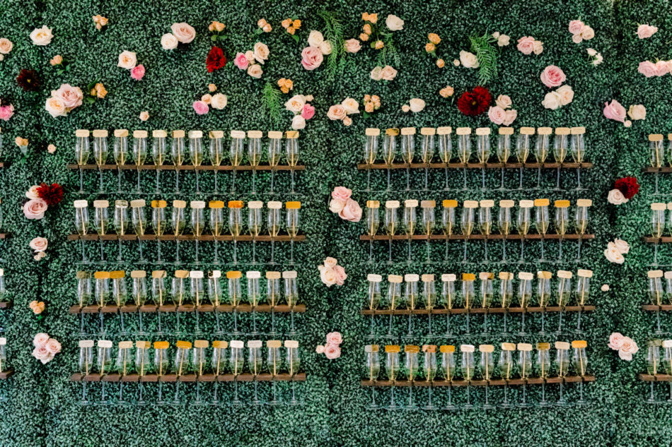 champagne wall, floral wall, gorgeous floral-filled wedding, floral design, florist, wedding florist, wedding flowers, orange county weddings, orange county wedding florist, orange county florist, orange county floral design, flowers by cina