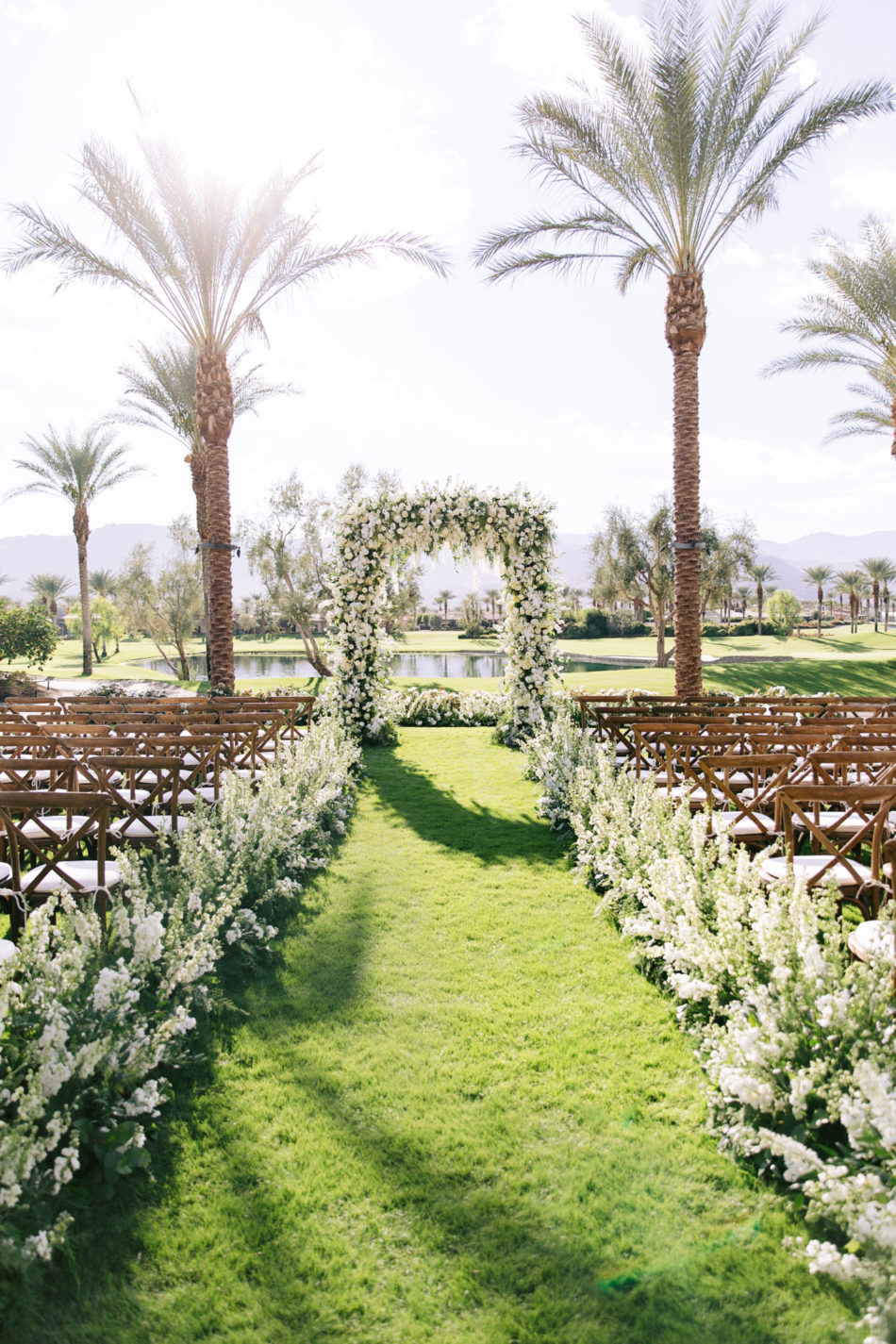 white outdoor wedding, white ceremony blooms, exquisite white wedding, floral design, florist, wedding florist, wedding flowers, orange county weddings, orange county wedding florist, orange county florist, orange county floral design, flowers by cina