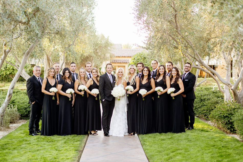 black and white wedding, black bridal party, exquisite white wedding, floral design, florist, wedding florist, wedding flowers, orange county weddings, orange county wedding florist, orange county florist, orange county floral design, flowers by cina