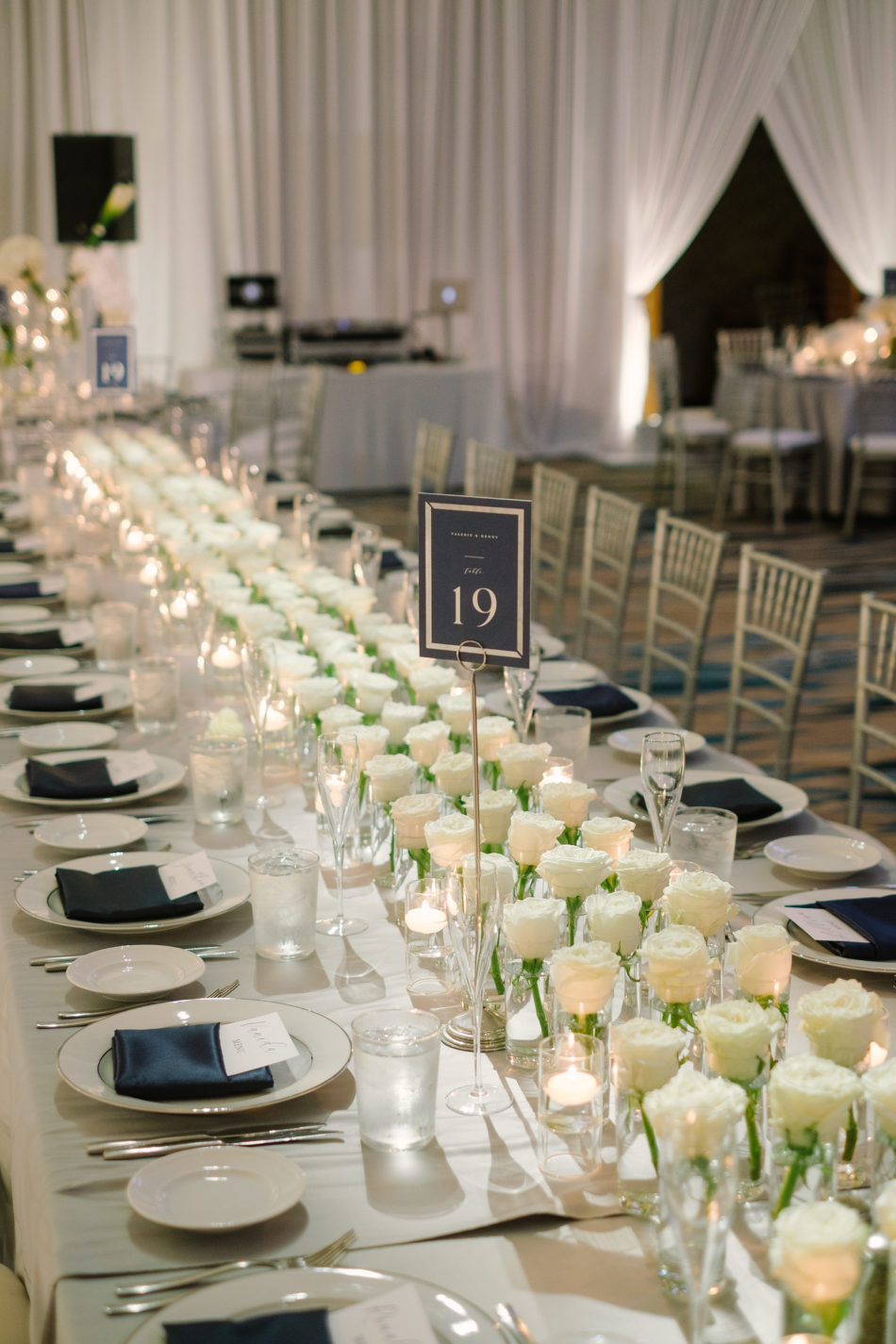 white reception, white reception decor, white centerpieces, magnificent all-white wedding, floral design, florist, wedding florist, wedding flowers, orange county weddings, orange county wedding florist, orange county florist, orange county floral design, flowers by cina
