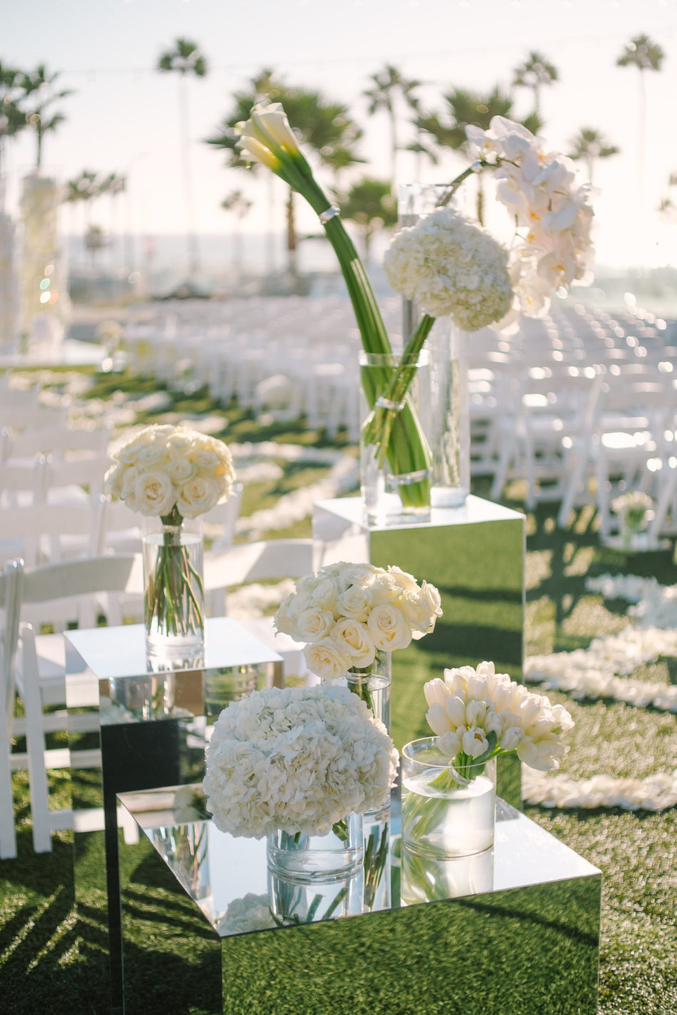 white floral decor, white wedding blooms, white wedding ceremony, magnificent all-white wedding, floral design, florist, wedding florist, wedding flowers, orange county weddings, orange county wedding florist, orange county florist, orange county floral design, flowers by cina