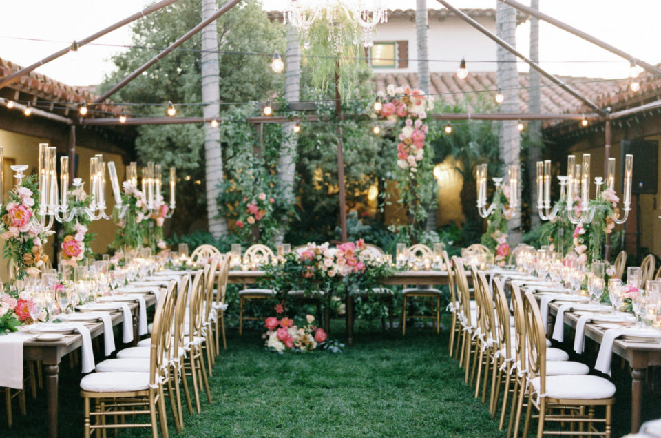 Gorgeous Alfresco Reception at Casa Romantica