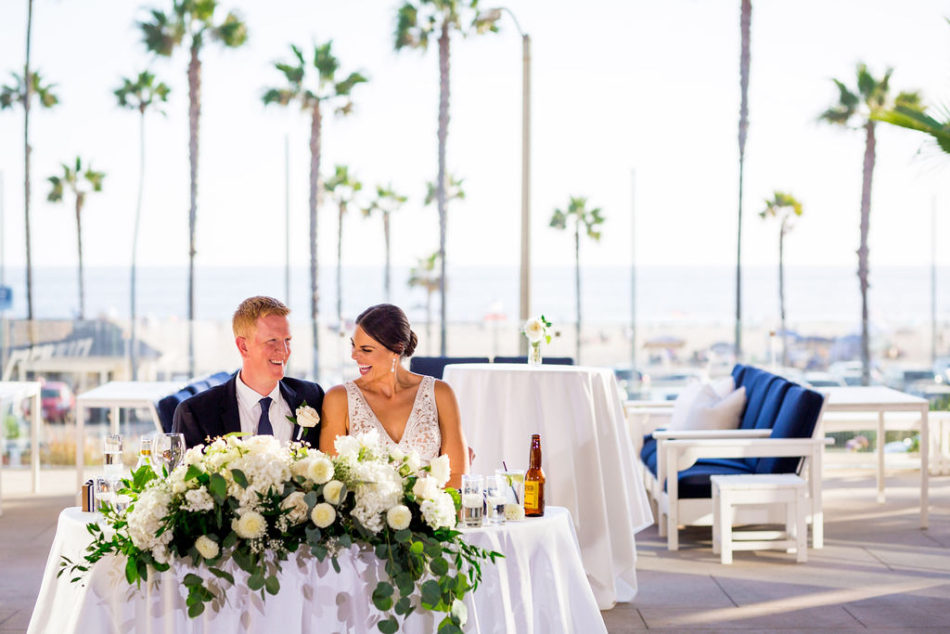 sweetheart table, newlyweds, ethereal white wedding, florist, wedding florist, wedding flowers, orange county weddings, orange county wedding florist, orange county florist, orange county floral design, flowers by cina