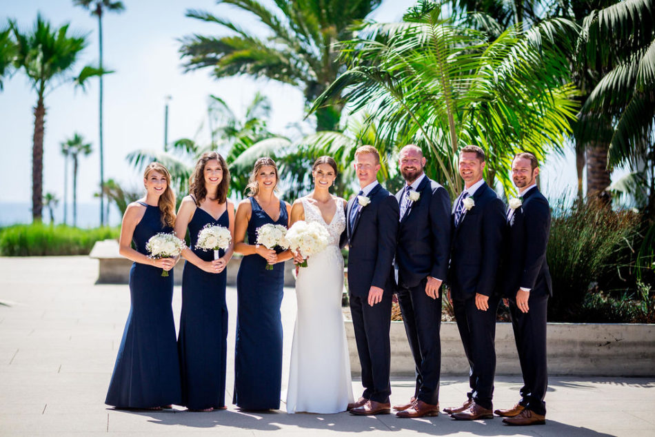 bridal party, black and white bridal party, ethereal white wedding, florist, wedding florist, wedding flowers, orange county weddings, orange county wedding florist, orange county florist, orange county floral design, flowers by cina