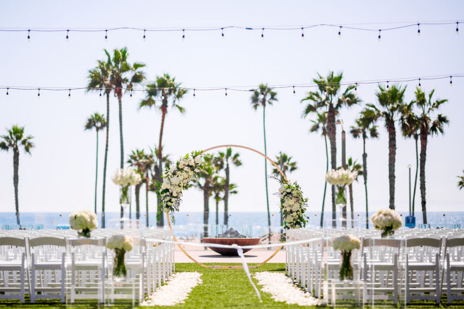 petalfilled aisle, white ceremony, ethereal white wedding, florist, wedding florist, wedding flowers, orange county weddings, orange county wedding florist, orange county florist, orange county floral design, flowers by cina