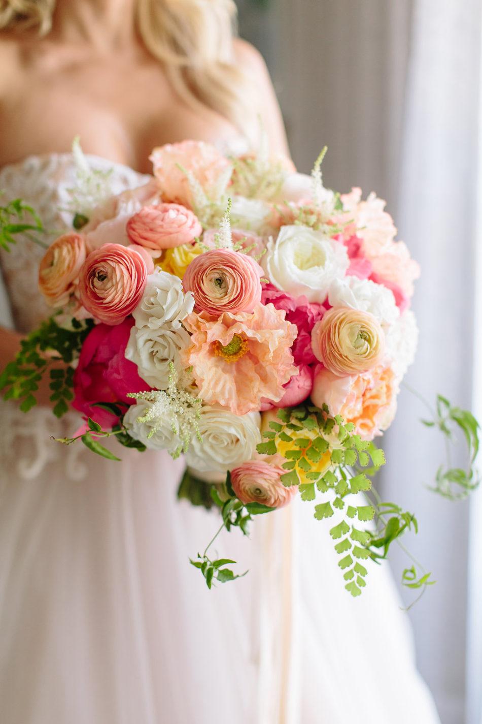 coral bouquet, pink bouquet, memorable bridal bouquets, floral design, florist, wedding florist, wedding flowers, orange county weddings, orange county wedding florist, orange county florist, orange county floral design, flowers by cina