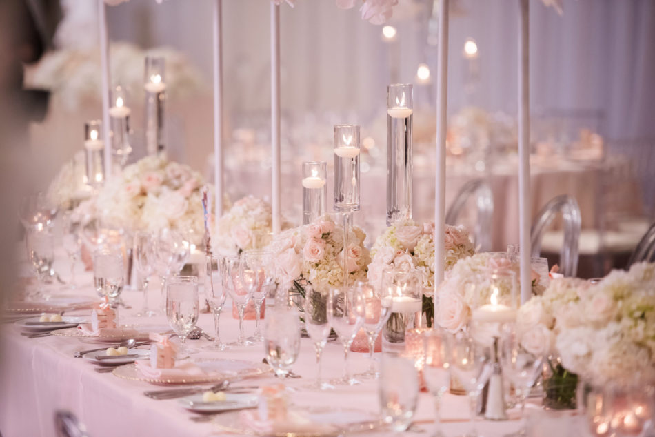 blush tablescape, blush centerpieces, dreamy seaside wedding, floral design, florist, wedding florist, wedding flowers, orange county weddings, orange county wedding florist, orange county florist, orange county floral design, flowers by cina