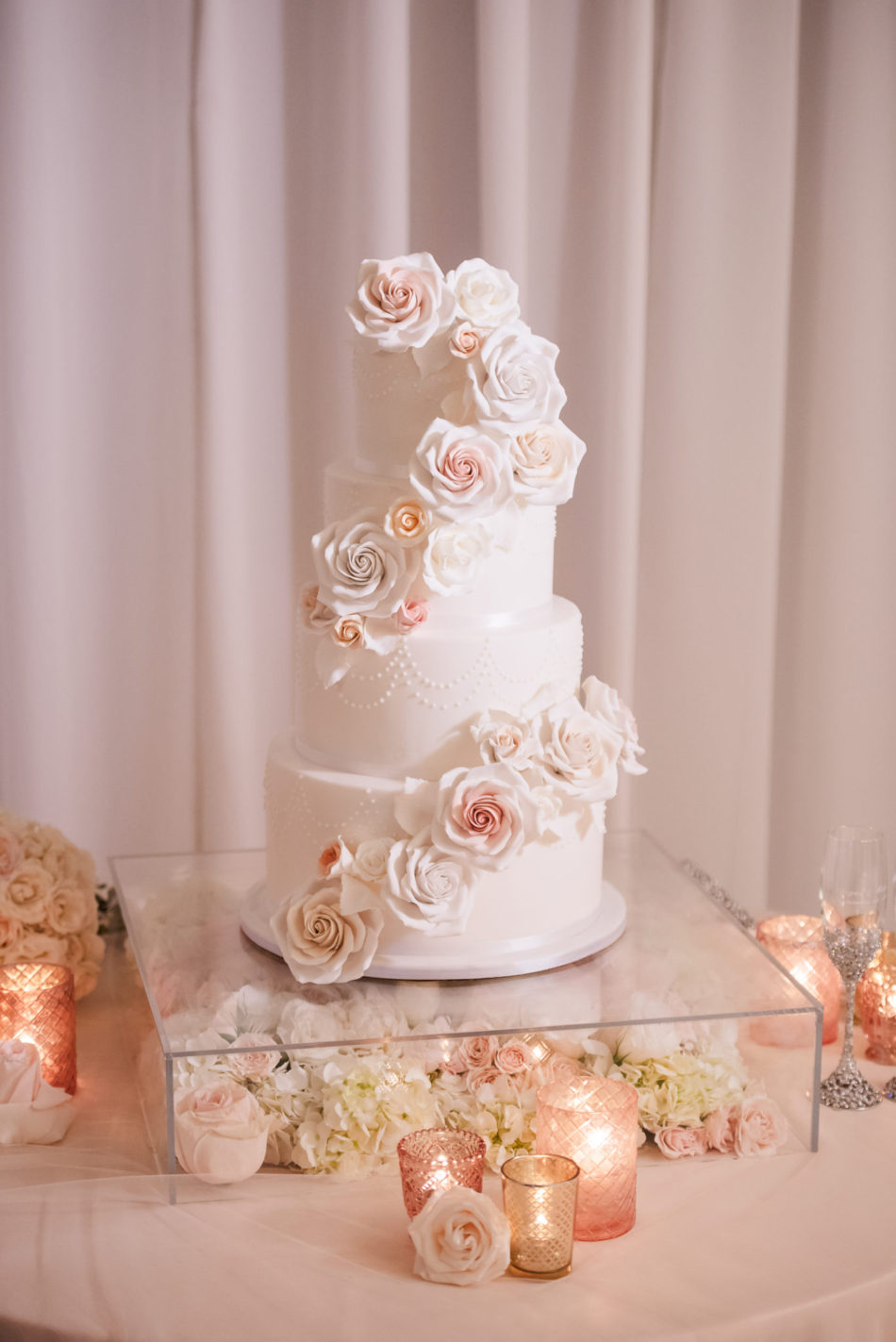 wedding cake, blush cake decor, dreamy seaside wedding, floral design, florist, wedding florist, wedding flowers, orange county weddings, orange county wedding florist, orange county florist, orange county floral design, flowers by cina