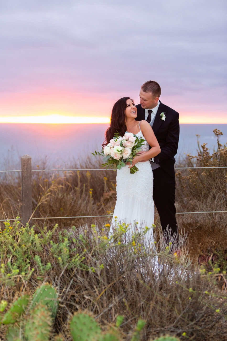 newlyweds, bride and groom, romantic pastel wedding, floral design, florist, wedding florist, wedding flowers, orange county weddings, orange county wedding florist, orange county florist, orange county floral design, flowers by cina