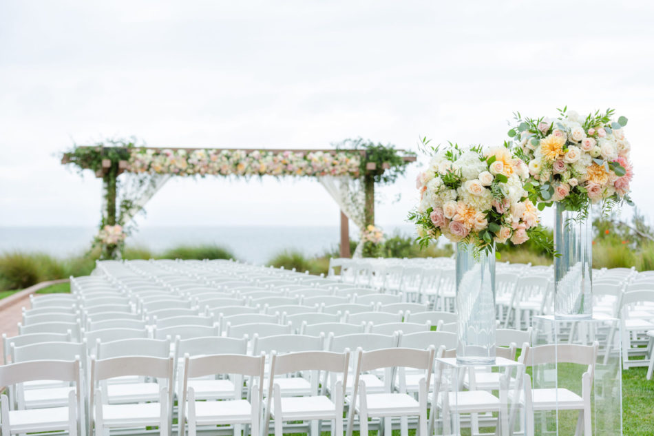 pastel wedding ceremony, pastel ceremony blooms, romantic pastel wedding, floral design, florist, wedding florist, wedding flowers, orange county weddings, orange county wedding florist, orange county florist, orange county floral design, flowers by cina