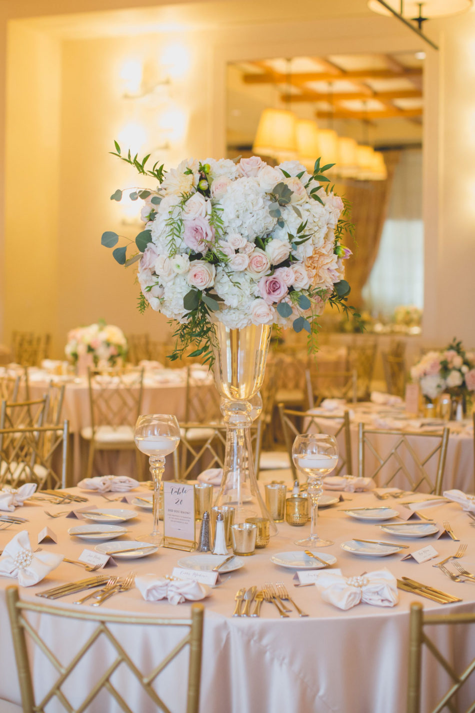 elevated blush centerpiece, blush reception florals, romantic pastel wedding, floral design, florist, wedding florist, wedding flowers, orange county weddings, orange county wedding florist, orange county florist, orange county floral design, flowers by cina