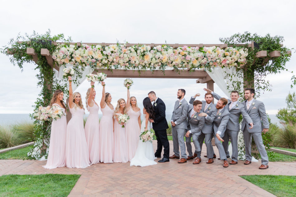 bridal party, blush bridesmaid dresses, romantic pastel wedding, floral design, florist, wedding florist, wedding flowers, orange county weddings, orange county wedding florist, orange county florist, orange county floral design, flowers by cina