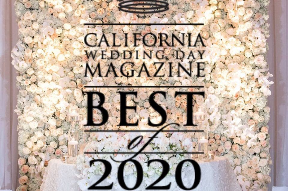 Flowers by Cina Wins California Wedding Day Best of 2020 Award
