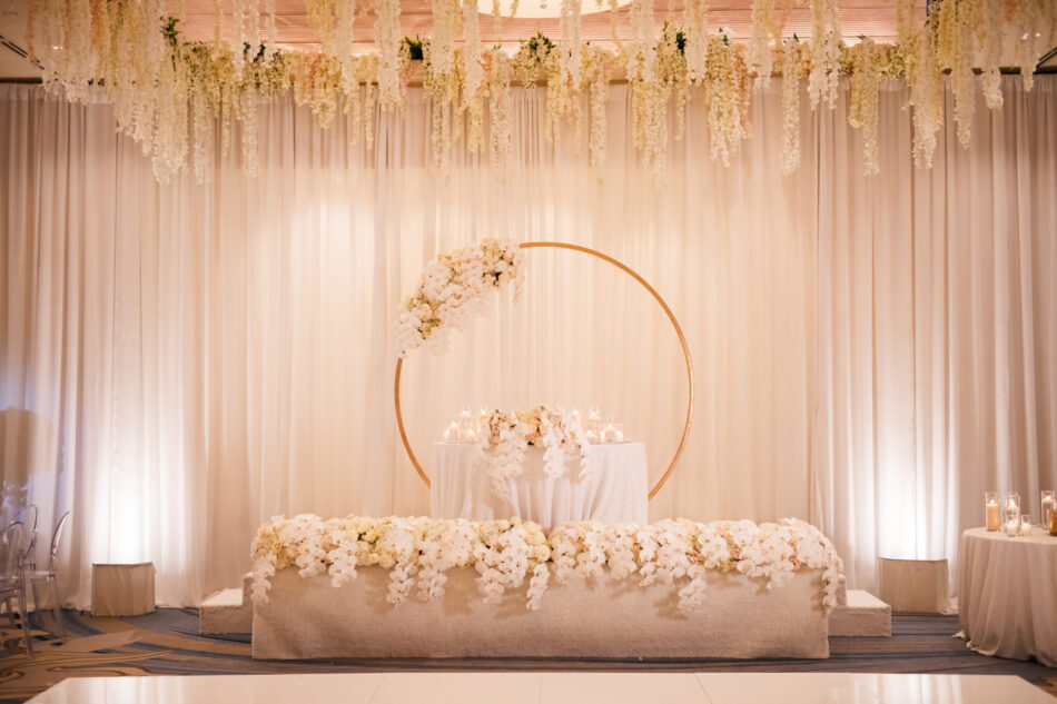 blush sweetheart table, floralfilled sweetheart table, california wedding day best of 2020, floral design, florist, wedding florist, wedding flowers, orange county weddings, orange county wedding florist, orange county florist, orange county floral design, flowers by cina